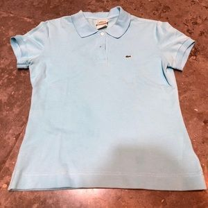 Lacoste Light Blue Short Sleeve Polo Top